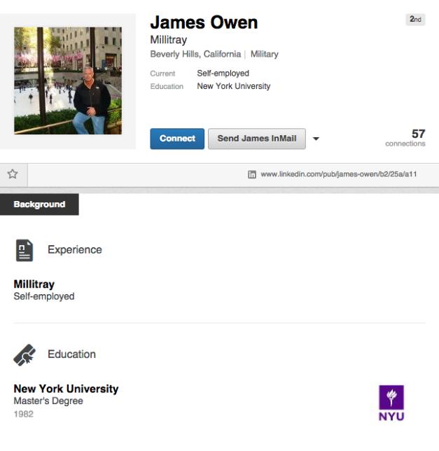 LinkedIn Profile - James Owen